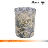 Стеклянный кувшин ароматические свечи с обнаружением распыления изменение цвета и табличка Glod бумаги для дома Decro