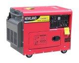 Air-Cooled 5kw無声100%Copperディーゼル発電機