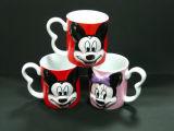 Embossed LogoのかわいいMickey Mouse 3D Ceramic Mug