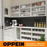 Mayorista moderno lacado en blanco de madera armarios de cocina con isla (OP16-Villa01K)