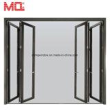 Puerta de plegamiento de cristal exterior de aluminio al por mayor de China para la puerta Bifold de la venta