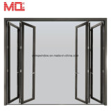 China-Großhandelsaluminiumaußenglasfalz-Tür für Verkaufs-Bifold Tür