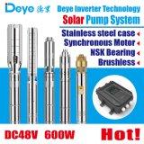DC48V 600W Head63m 태양 수도 펌프 깊은 우물 펌프