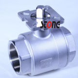 Steel di acciaio inossidabile 2 Piece Ball Valve con Mounting Pad