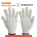 K-76 80g/paire tricoté abat-jour de sécurité de travail des gants de coton