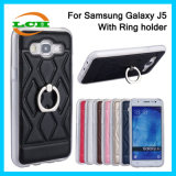 Het Geval van het silicone met de Houder van de Ring van de Omwenteling voor Samsung J5