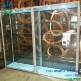 Aluminium gestaltete Verkaufsmöbel, System-Glasbildschirmanzeige-Schaukasten-Regal