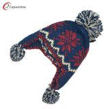 普及した方法暖かい羊毛か冬の帽子