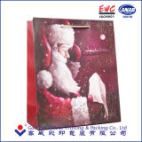 bolso del regalo del papel de la Navidad de la manera con la maneta