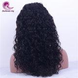 아름다운 긴 머리 물결파 Virgin 머리 스위스 레이스 가득 차있는 레이스 가발