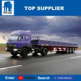 Titan-Fahrzeug - der Zaun-Typ Flachbettsattelschlepper-Ladung-Schlussteil