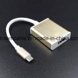 15cm de aleación de aluminio plateado tipo C para el adaptador de HDMI 4K