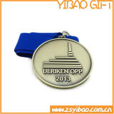 Ancient Custom 3D Silver Medal for Competition Gifts (YB-LY-C-27)