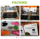 El panel solar de los Kits-Uno solares de la iluminación con dos bulbos del LED