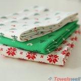 Toalla de té blanca de la cocina de la Navidad del algodón