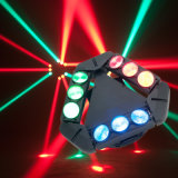 9PCS 12W RGBW Full Color Moving Head LED Spider Beam Light