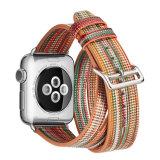 prix d'usine Design personnalisé Rainbow 38mm 42mm couleur Cuir véritable des bracelets de montres