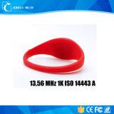 Iso 14443 di RFID 13.56MHz 1k un braccialetto sottile del silicone