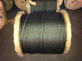 Ungalvanized une corde bleue 6X37+FC de fil d'acier de brin