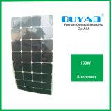 Панель солнечных батарей 100W Sunpower высокого качества гибкая