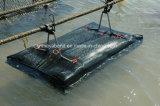 ブイが付いている9*9mmのHDPEのカキの網袋の水産養殖のネットのケージ