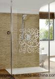 Ausgeglichenes Badezimmer-Glas mit gedrucktem oder gefrittetem Muster