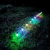 Luz decorativa accionada solar colorida del jardín de la noche de la lámpara del paisaje del LED