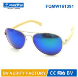 Metallo Sunglass di buona qualità Fqmw161391 con il tempiale di bambù
