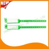 Cartão de inserção hospitalar Custom Vinyl Plastic Wristbands Bandas de pulseira (6060A)