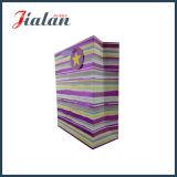 結び目のハンドルが付いている高品質の多彩で熱い押す紙袋