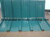 波形の屋根ふきによって電流を通される鋼板