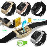 SosボタンおよびGeo塀T59が付いている熱い販売の年配GPSの追跡者の腕時計
