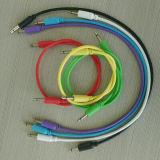 """3.5mm 1/8 """" мыжских миниых штепсельных вилок к мыжскому монауральному Mono тональнозвуковому удлинительному кабелю"""