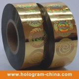 銀色の金ホログラムの熱い押すホイル