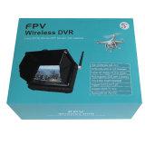 Радиотелеграф камера DVR монитора LCD 5 дюймов миниая с забралом Sun (1.2GHz/2.4G/5.8GHz модулем врезанным, батарея 3200mAh, память SD до 32G)