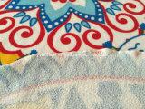 Venda por grosso de forma personalizada as crianças e adultos de toalha de praia redonda de algodão