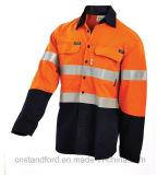 회사를 위한 옥외 방어적인 안전 작업복 옷이 OEM에 의하여 가을 사람을 배치한다