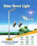 50W Rue lumière solaire intégré avec le capteur pour l'éclairage extérieur