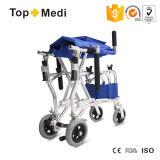 Fauteuil roulant portatif léger en aluminium de bas-côté d'avion de fauteuil roulant de course