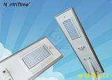 Réverbère solaire Integrated de DEL avec le panneau solaire de batterie au lithium