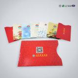 IDENTIFICATION RF bloquant la chemise de carte, chemises en plastique de carte d'identification