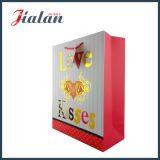 Oro Wholesales Hot Stamping logotipo impreso Womans llevar bolsa de papel