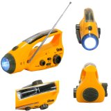 Solar Hand Crank Lanterna Beacon Cell Phone Charger Emergency Radio