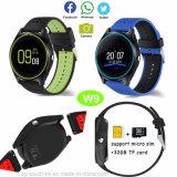 Muñeca de la cámara con ranura para tarjeta SIM Bluetooth Smart Watch W9