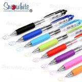 Gen caneta colorida Quliaty G101 do logotipo Cutomized Snowhite + Serviço ODM