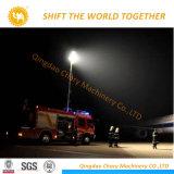 Torre de la luz de la construcción de móvil con el Generador Diesel
