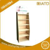 Sauter vers le haut l'étalage en bois de stand de livre de magasin d'étage de détail de mémoire