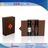 Contenitore di regalo impaccante del vino di cuoio del Brown (5428)