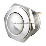 22mm à tête ronde bombée Interrupteur bouton poussoir en acier inoxydable