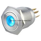 19mm DOT Illuminated Momentary 1no1nc Metal Drukknop Switch